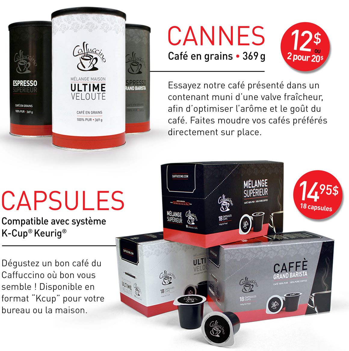 Collections de cafés - Caffuccino