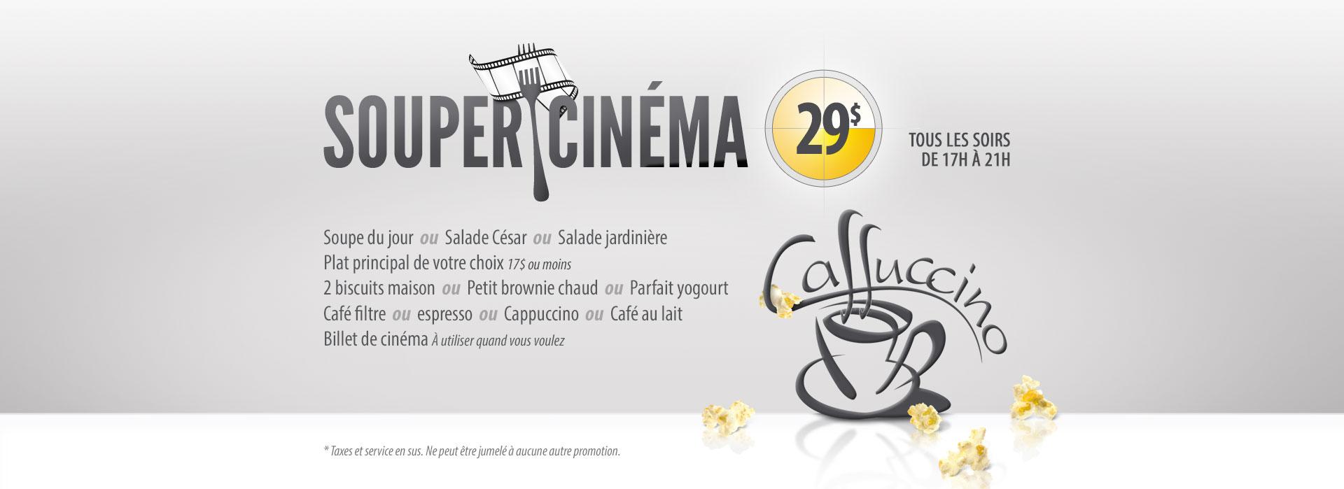 Caffuccino - Forfait Souper-Cinéma
