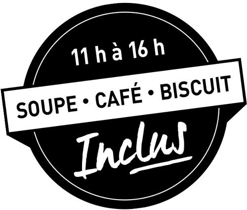 caffuccino soupe café biscuit menu midi