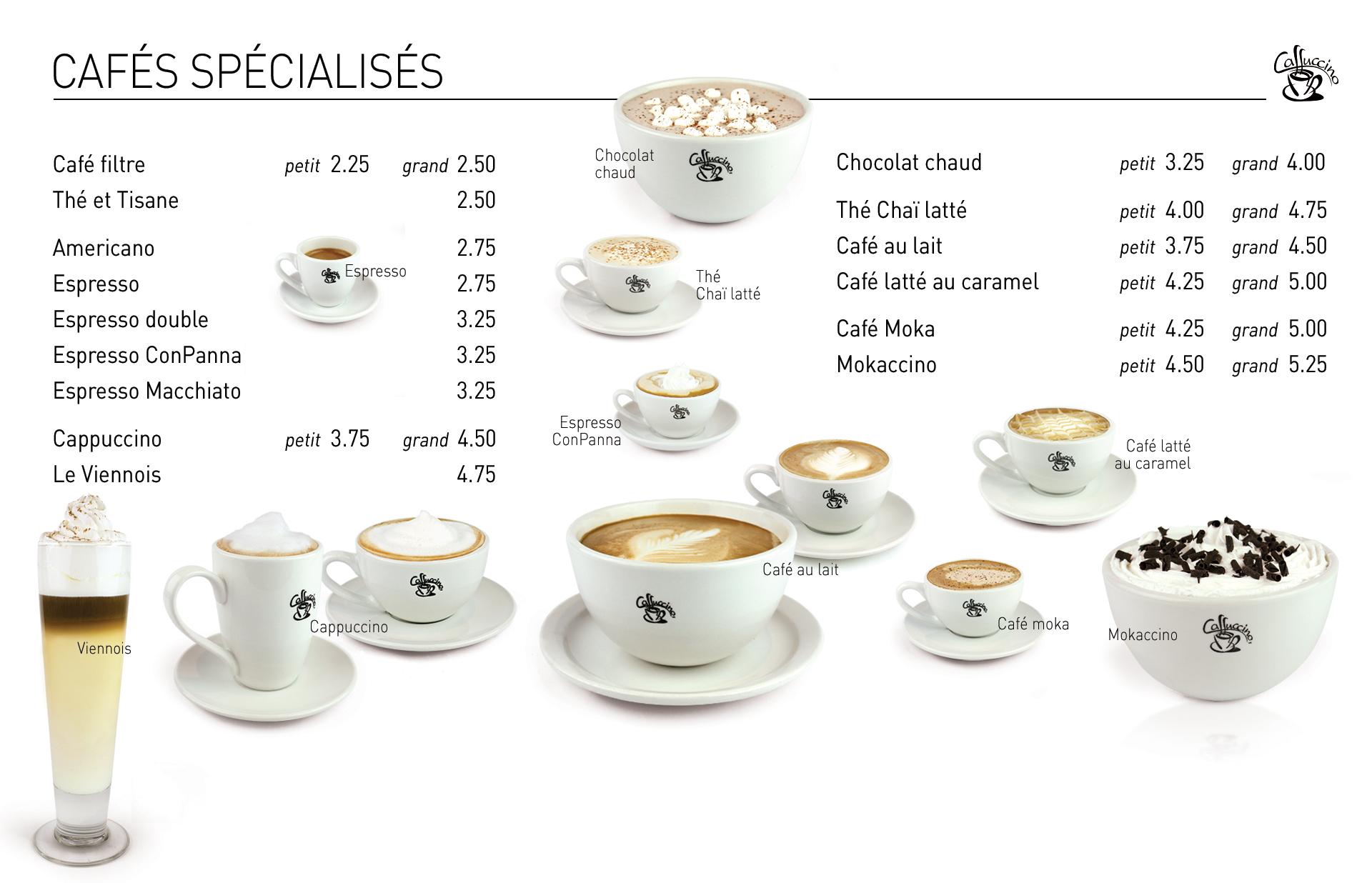 Cafés spécialisés