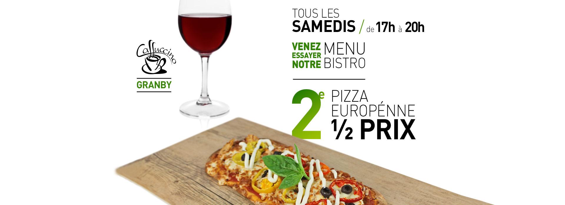 Caffuccino Granby - 2e pizza à moitié prix