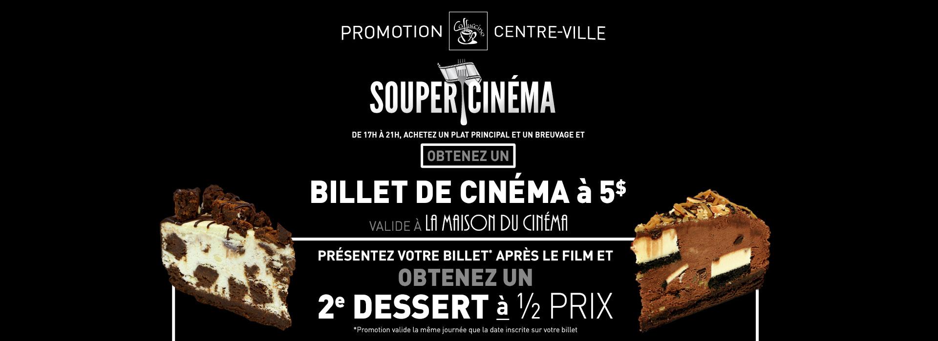 Souper Cinéma - Caffuccino Centre-ville