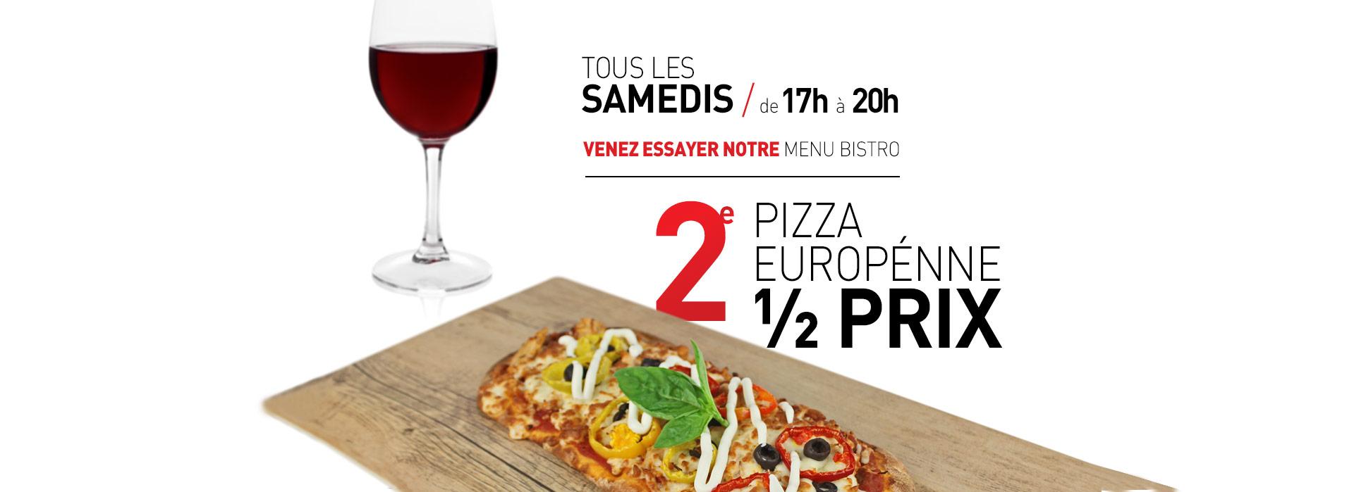 Caffuccino - Promotion - 2e pizza à moitié prix